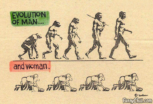 evolution-of-man-and-woman