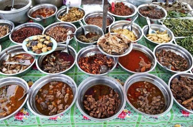 Delicacies in Yangon market