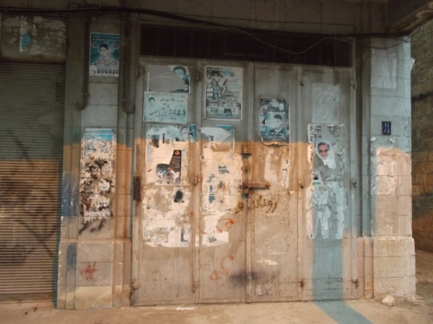 Martyr posters in Nablus