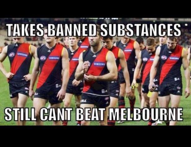 So if the Bombers were taking drugs, what were the Demons on..?