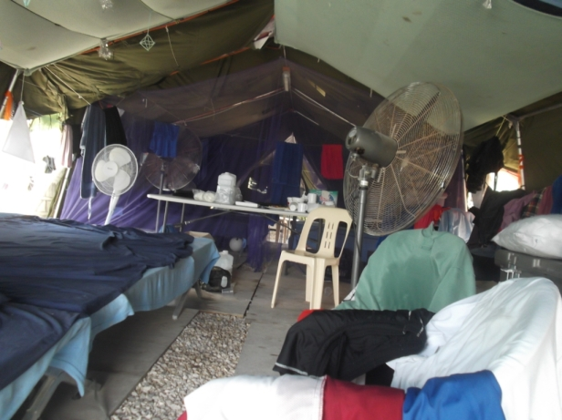 Inside the tents of Nauru.