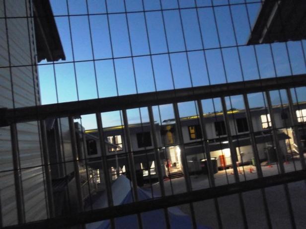 Looks like a prison, feels like a prison...
