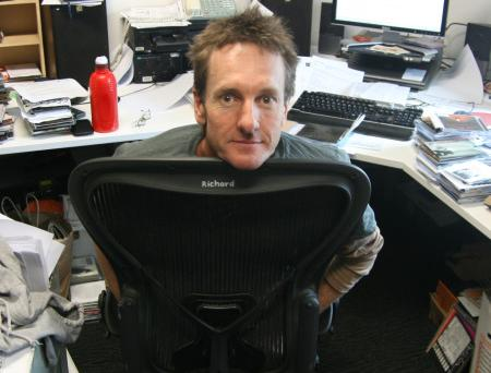 A dumbfounded Richard Kingsmill at Triple J headquarters this week
