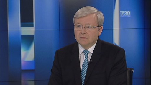 Mr Rudd faces off with Leigh Sales