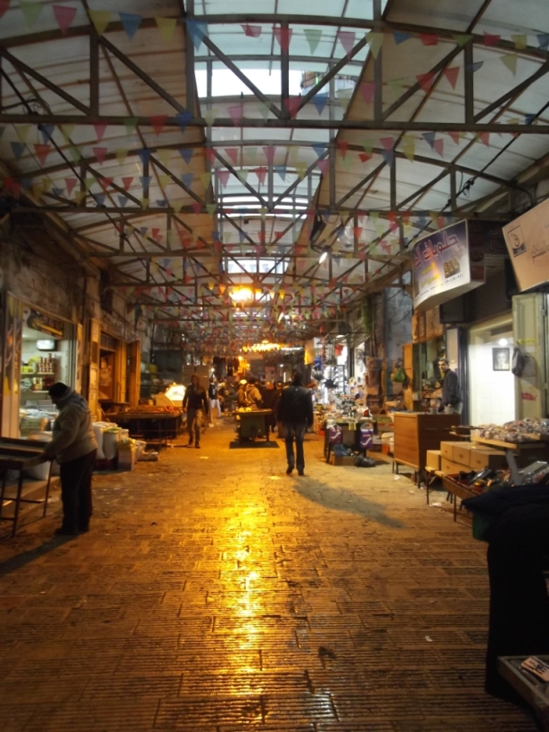 Closing time at the markets in Nablus