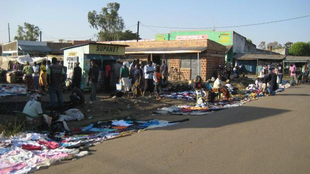 Second hand clothes in Odede market