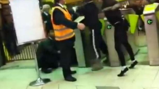 Metro Trains 'Customer Service Officers' on the job at Flinders St station