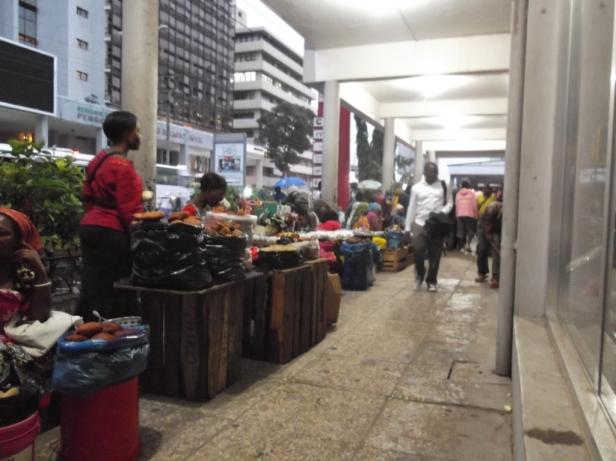 Breakfast stalls at 'Posta' in Dar es Salaam