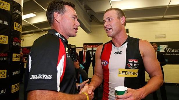Coach Alan Richardson and David Armitage post match