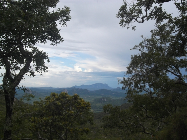 View of Dedza Mountain from Chongoni Mountain, Malawi