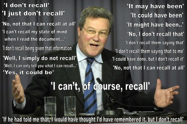 Downer: 'I cannot recall'