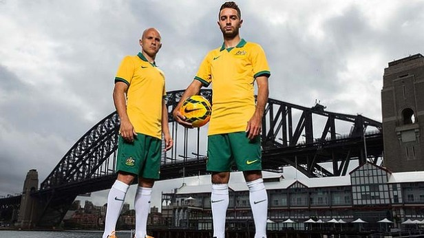 Marco Bresciano and Michael Zullo model the 2014 uniform