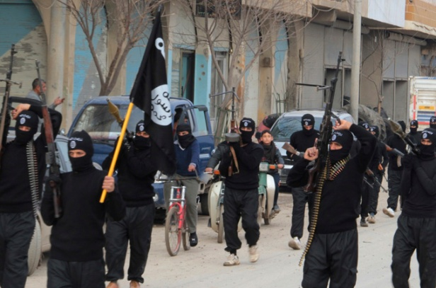 ISIL members marching through the streets of Baquoba, recruiting their assault on Bendigo