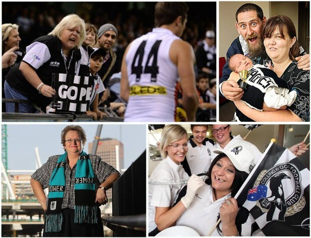 Collingwood and Port Adelaide fans are keen to set their own world record