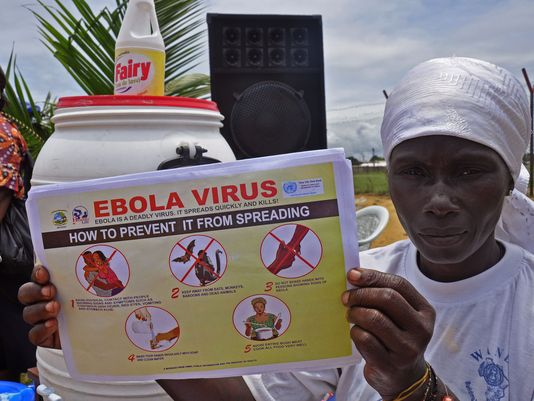 An education campaign against the transmission of Ebola