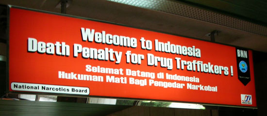 The penalties for drug smuggling in South East Asia are well known
