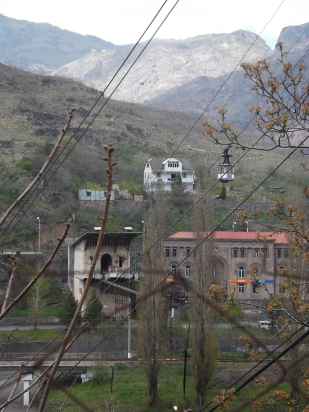 Cable car in Alaverdi, Armenia
