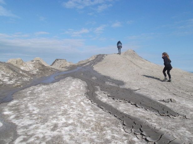 Mud volcanoes in Qobustan