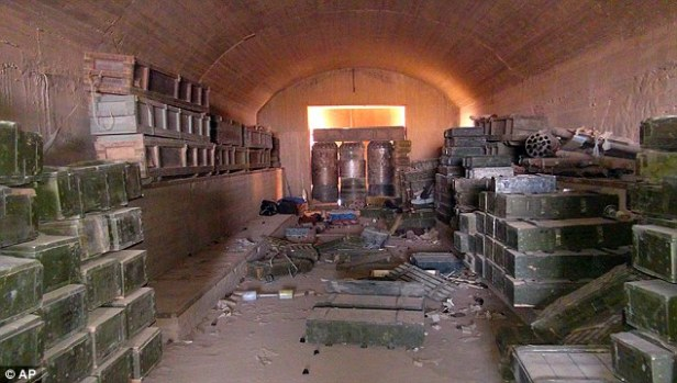 What a mess: ISIS warehouse in Syria