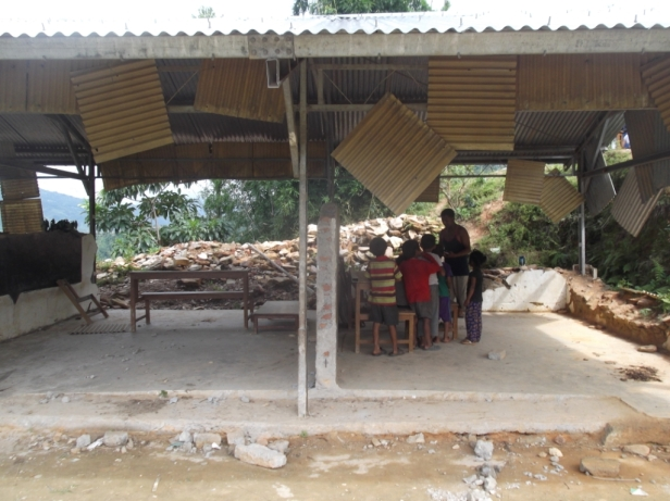 The primary school in Ganesh Than following the eathquakes