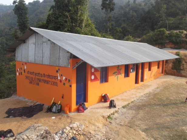 The completed school in Ganesh Than (November 2015)