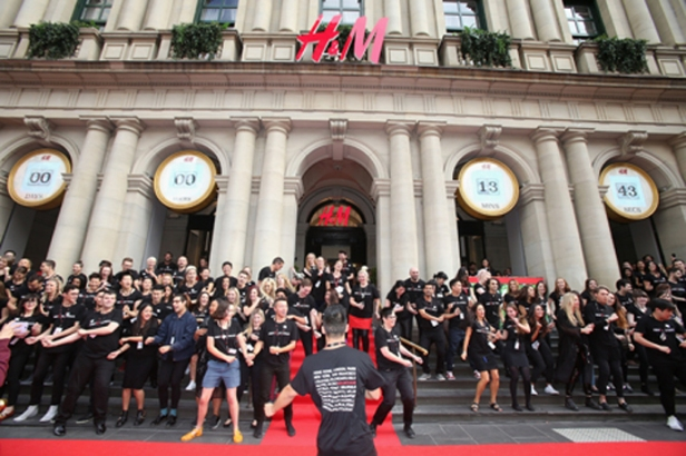 The H&M opening celebrations in Melbourne - April 2014