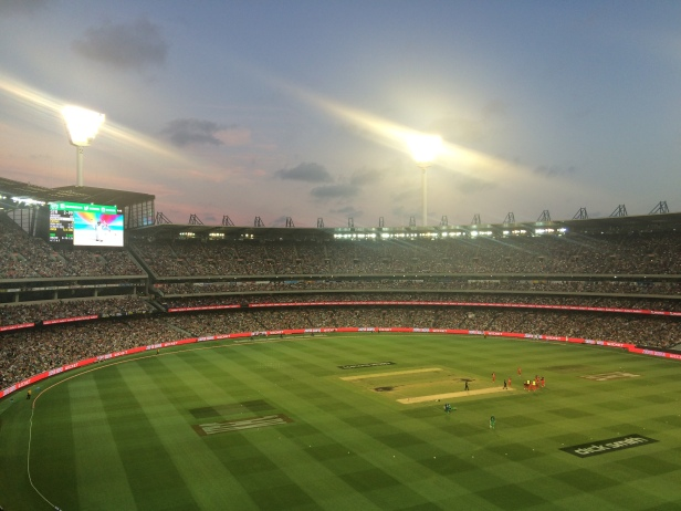 A bumper crowd packed in to the MCG for the T20 match
