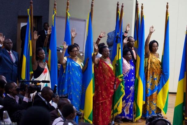 Rwanda: 64% of parliamentarians are women