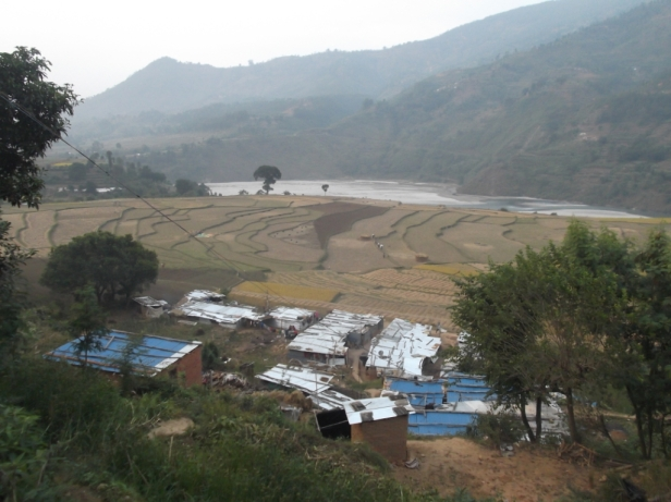 The village of Mahji Gaon in Kavre district was almost entirely wiped out