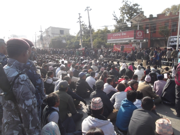 Protests in Kathmandu, November 2015