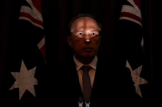 Immigration Minister Peter Dutton, or possibly Hannibal Lecter...