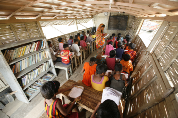'The non-profit organisation Shidhulai introduced solar-powered floating schools in Bangladesh to ensure children's uninterrupted education even during the height of the monsoon.'