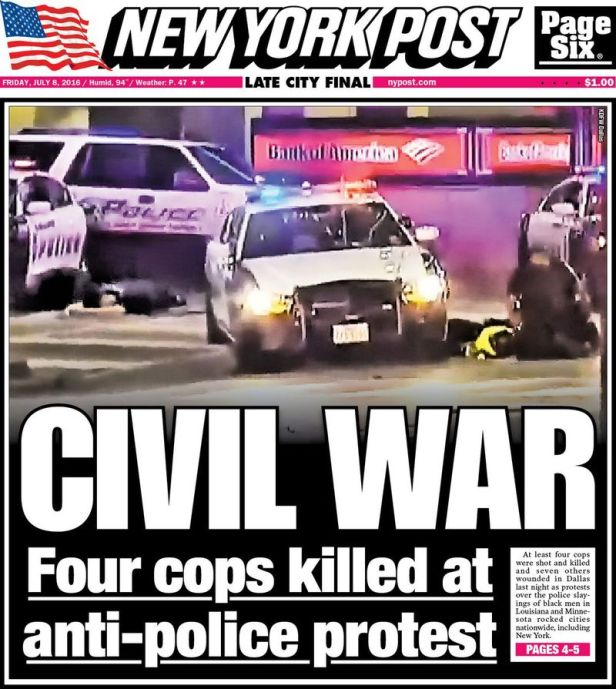The New York Post front page