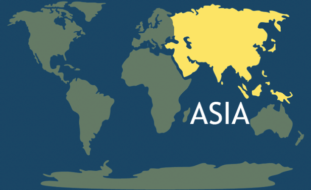 Asia: 60% of the world's population