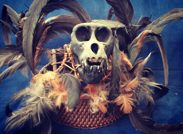 Philippines: The infamous monkey skull headdress
