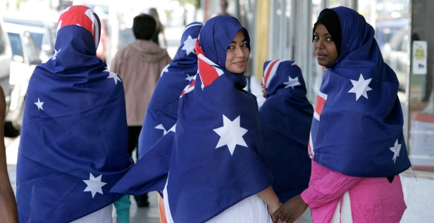 Young Muslim Australians in Sydney as part of Harmony Day celebrations
