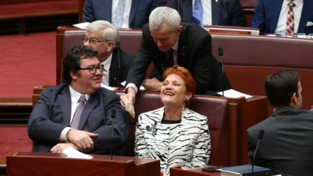 Dickheads have even been found inside Australia's parliament