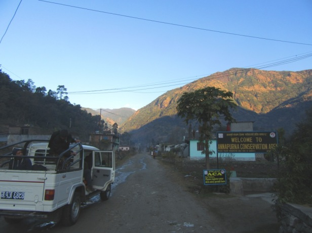 Entrance to Annapurna Conservation Area