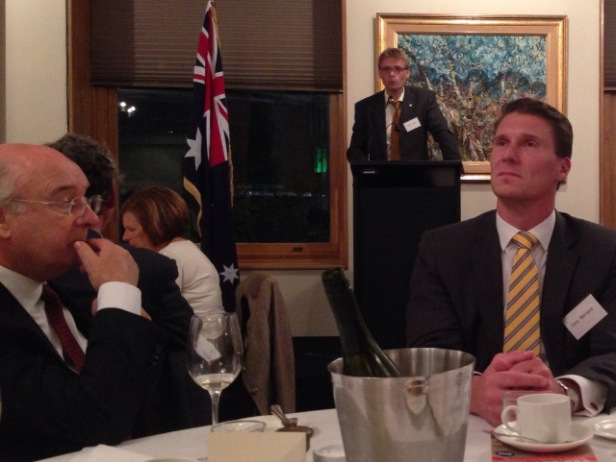 Whinemaker Cory Bernardi in a contemplative mood